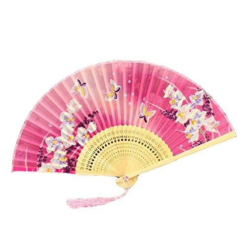 Von Ein Einer Kostüm Bauchtanz Art - East Utopia Chinesische Art Vintage Handheld Fan Tanzfan Seide