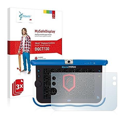 3x Vikuiti MySafeDisplay Film(s) de protection d'écran DQCT130 de 3M pour Vtech Storio Max 7 (Bleu)
