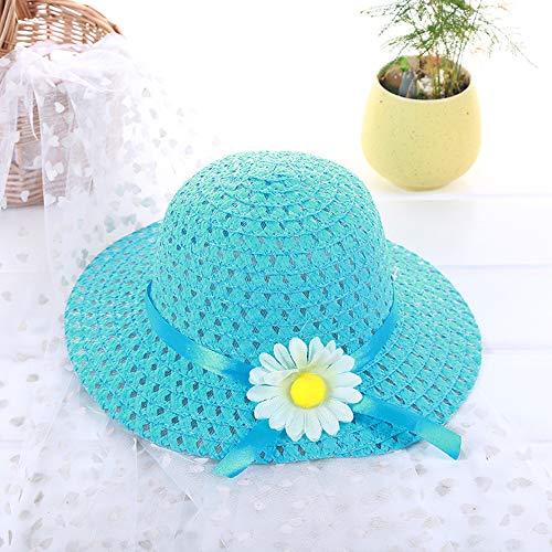 1 Stück Mädchen-Teeparty-Sonnenhut, Daisy Flower Straw Sunhats (Dress Daisy Up)