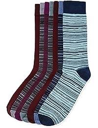 find. Calcetines de Rayas Hombre, Pack de 7, Multicolor (Multi Coloured), Large