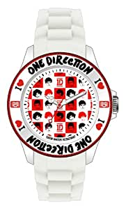 One Direction 1D Wrist Watch in Branded Window Tin - White with Red & White Checkered Face - ONED05/S - Quartz Anaolgue - Official Licensed Product