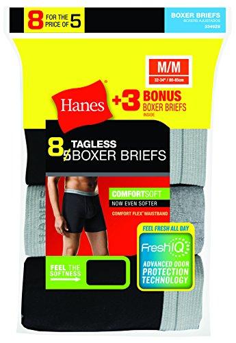 Hanes mens  Freshiq Comfortsoft Waistband Boxer Briefs (5-pack + 3 Free) Boxer Briefs