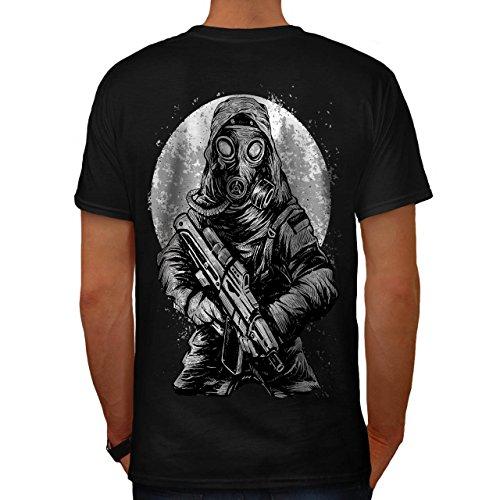 nuklear Krieg Giftig Horror Herren M T-shirt Zurück | (Kostüme Asyl)