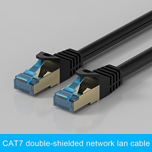 GadgetsAccessories CAT7 3M / 3 Meter Shielded RJ45 Ethernet Patch Network Cable Professional Gold Plated Plug SSTP Wires Cat 7 Networking Cable Premium/ Patch/ Modem/ Router/ LAN / ADSL (Backwards Compatible with Cat 6, Cat 5, Cat 5e) for use with network hardware from Cisco - Netgear - Linksys - Dlink - Belkin - Buffalo - Apple - TPLink - Zyxel  available at amazon for Rs.899