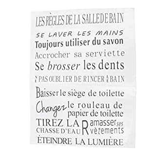 SODIAL(R) Quotes for bathroom of French version waterproof wall stickers home decor, vinyl art decals sticker-Grey