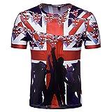 YuanDian 2018 Fußball WM Herren Damen Fans T Shirts 3D Nationalflagge Druck Kurzarm Rundhalsausschnitt Deutschland Fussball Tee Shirt England 1# XL