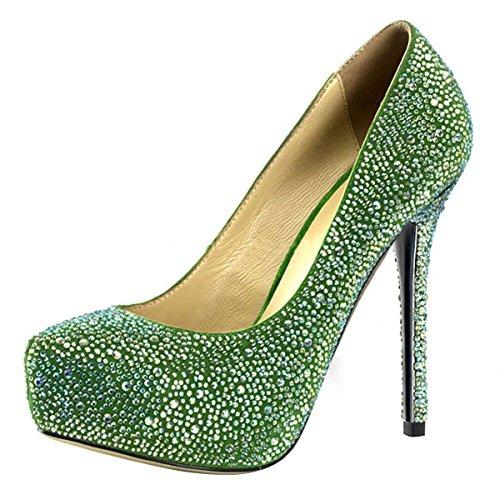 Tacchi Donna perfetti Pompe Verde Per xqZXrZY7Rw