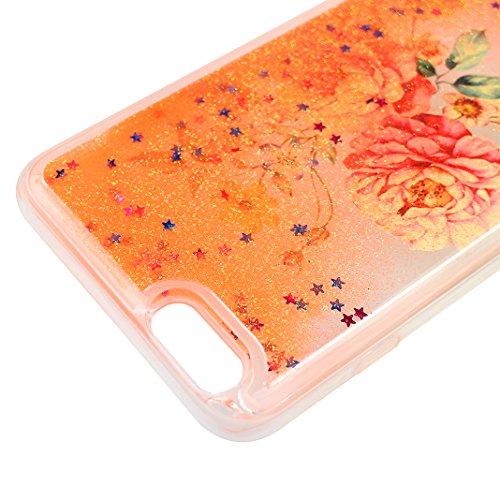 Hülle iPhone 7 Treibsand Schale 4.7 Zoll, iPhone 7 Slimcase, Moon mood® Color Gradient Überzug Plating Case für Apple iPhone 7 Durchsichtige Handyhülle 3D Creative Case Mode Bunten Transparente Krista Stil 14