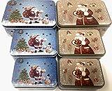 YLAB Weihnachtsdosen/Dosen, zufällige Auswahl, 3 Stück