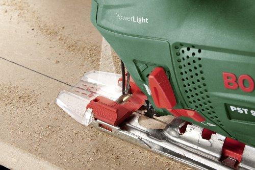 Bosch Stichsäge PST 900 PEL (Sägeblatt, Spanreißschutz, CutControl, Transparenter Abdeckschutz, Sägeblattdepot, Koffer, 620 Watt) - 4