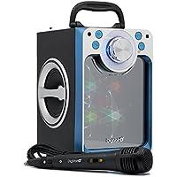 Karaoke DigiVolt HIFI-30 by MovilCom | altavoz bluetooth reproductor mp3 reproductor multimedia USB Micrófono Radio FM Entrada AUX AZUL