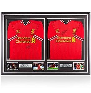 new style 58495 069f0 Icons.com PRE-FRAMED Luis Suarez & Steven Gerrard Front ...