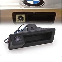 MAYA HD Cámara Trasera Marcha Atrás 480TVL 170°PAL Impermeable para Coche Auto DC12V para BMW E60 E61 E70 E71 E72 E82 E88 E84 E90 E91 E92 E93 X1 X5
