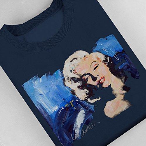 Sidney Maurer Marilyn Monroe Blonde Bombshell Official Womens Sweatshirt Navy blue