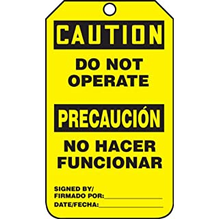 Accuform Signs TSP626CTP Spanish Bilingual Safety Tag, Legend