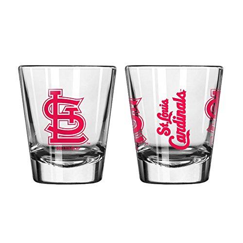Offizielles Fan Shop Authentic MLB Logo 2oz Schnapsgläser 2er Pack Bundle. Show Team Stolz zu Hause, Ihre Bar Oder an der Heckklappe, Gameday Shot Gläser für Eine Goodnight, St. Louis Cardinals