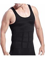 FEESHOW Camiseta Faja Abdominal Entallada Reductora Moldeadora Quemagrasas Adelgazante para Hombre