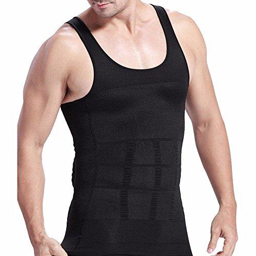 FEESHOW Camiseta Faja Abdominal Entallada Reductora Moldeadora Quemagrasas