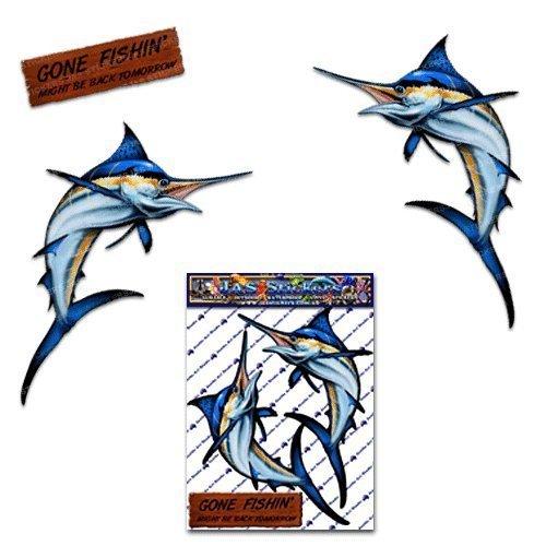 Marlin Schwertfisch Große Kleine Fisch Pack Auto Aufkleber für Auto Boote- ST00013TP_LGE - JAS Aufkleber