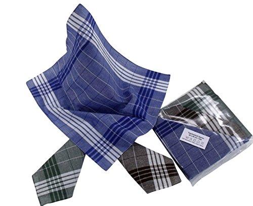 Karl Teichmann Arbeits-Herren-Taschentücher (Arabias) 12 Stück im Polybeutel, die beliebten Stofftaschentücher für Arbeit und Freizeit