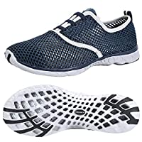 ALEADER Men's Quick Drying Aqua Water Shoes Blue 10 D(M) US