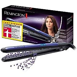 Remington Fer à Lisser Lisseur Triple Action Ionique Anti Frisottis Anti Electricité Statique, Cheveux Lisses - S7710