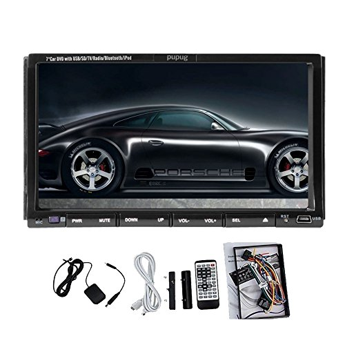 Auto Pupug 7'Zoll GPS-Navigations-PC-Bildschirm-Auto-DVD-Spieler Video Audio Video CD DVD-Receiver mit CD Bluetooth PGN203G Autoradio PC Monitor Built In Dash Stereo USB / SD Receiver RDS Stereo 2DIN Auto