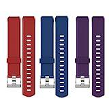 Yamay Ersatz Armband für SW333 Fitness Tracker (Rot+Blau+Lila)