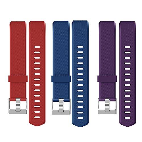 Yamay Correas Reemplazables para Pulseras de Actividades SW333 (Rojo + Azul + Púrpura)