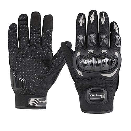 ARTOP Guantes Moto de Pantalla Táctil Guantes Motocross Verano Mujer Hombres Dedo Completo Tranpirable Guantes de Motocicleta(Negro,XL)
