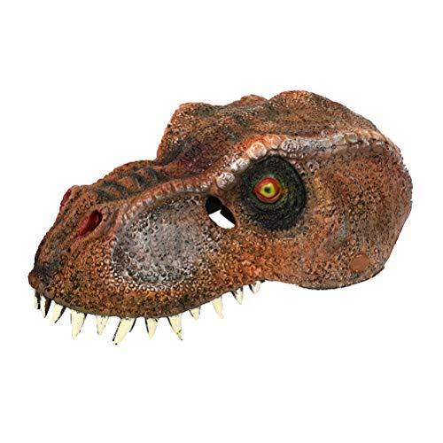 lustige Tierkopf Maske beängstigend Dinosaurier Maske Halloween-Kostüme (braun) ()