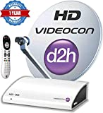 Videocon d2h HD Zapper Set Top Box with 3 Month Gold Gujarati HD Combo Pack Free