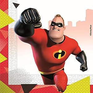 Procos servilleta 33cm Incredibles 2, Rojo, 5pr89916