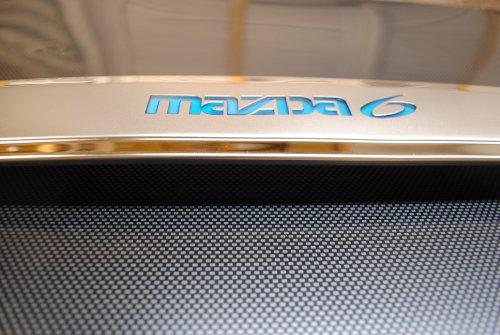 Mazda Mazda6 6 Chromstahl-hintere Endstück-Tor Hatch Heckklappe Trim W/Blue Hell 2006 2007 2008 - Tore Trim