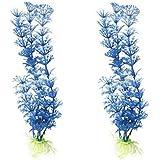 buyhere Fish Tank plantes Décoration pour aquarium 2pc blue