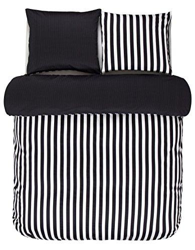 Marc O Polo Bettwäsche Classic Stripe Black 1 Bettbezug 135x200 cm + 1 Kissenbezug 80x80 cm -