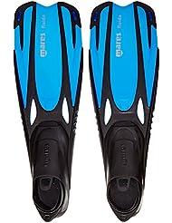 Mares Fluida Jr. - Aletas para niños, color azul, talla 27