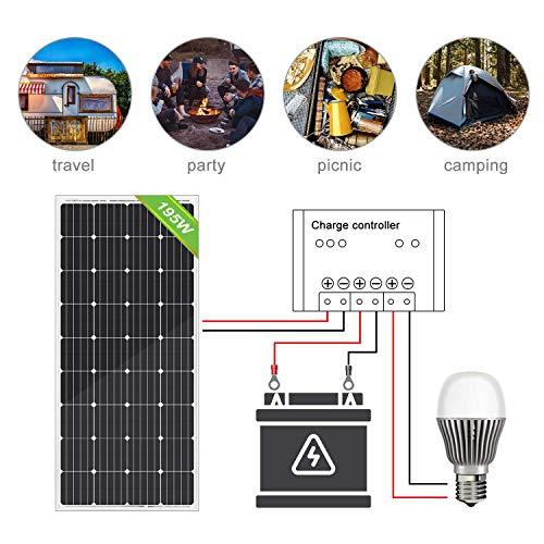 ECO-WORTHY 150W 12v Monokristallin Solarpanel Solarmodul Ideal FÜR Berechnen 12 Volt Batterie Systeme Bausatz , Camping, Wohnmobil,Wohnmobile, Boote ,Gartenhäuser - 6