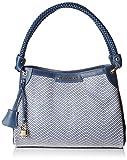 Mac Douglas Women's FORTISSIMO FANTASIA Shoulder Bag Blue Blue (Chevron Bleu CH97)