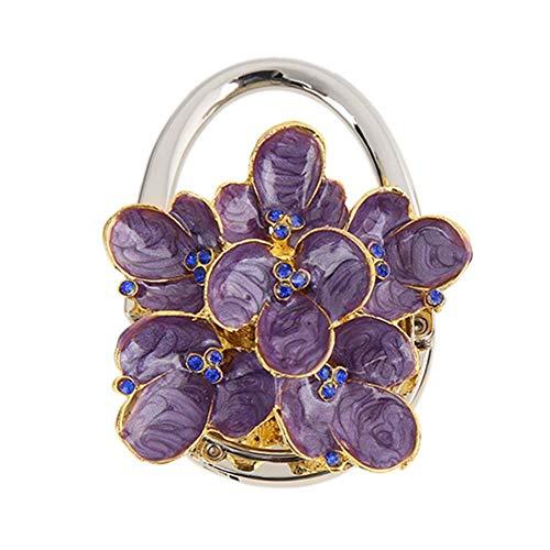 Vanpower Blume Form Metall Faltbare Tasche Haken Handtaschenhalter Tisch Haken (S6YC02) -