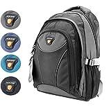 Laptop Rucksack Schulrucksack Schulranzen Schultasche A4 15 Zoll in 4 Farben (Grau)