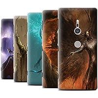 Offiziell Chris Cold Hülle / Case für Sony Xperia XZ2 / Pack 10pcs Muster / Dunkle Kunst Dämon Kollektion