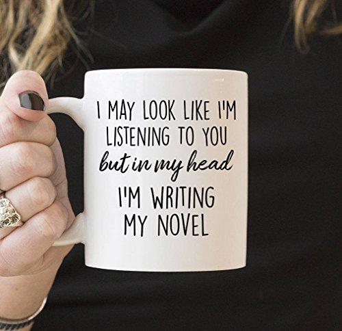 Autor Gifts Literary Gift Writer Gift But in My Head Im Writing My Novel Kaffeetasse Buch Geschenke...