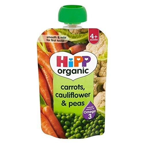 Hipp biologique Carottes Caulliflower & Peas (100g) - Paquet de 2