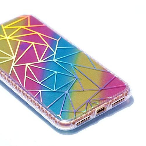 Pour Apple Iphone X Case Cover, Ecoway TPU Soft Motif de placage en couleur personalized pattern Housse en silicone Housse de protection Housse pour téléphone portable pour Apple Iphone X - diamant Donuts