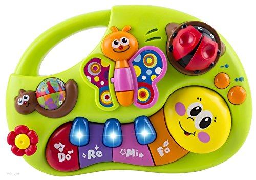Juego para niños de 6 Meses. Máquina de aprendizaje del juego con las luces, las canciones y sonidos varios. Hay una historia en el juego que ayuda niños y niñas a desarollar su aprendizaje