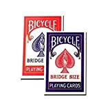 Bicycle Bridge Standard Index Playing Cards 1 Red Deck And 1 Blue Deck