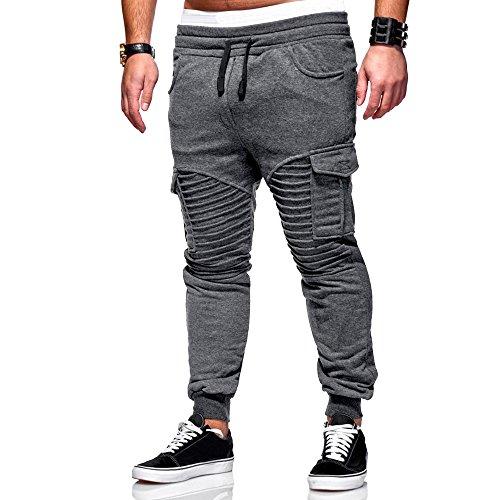 Manadlian Hosen Herren Chino Hose Stretch Jeans Straight H1245 Chino Cargo Hose Jayden - Lässiger Look mit Cargo-Hose - viele Funktionelle Taschen - klasse kombinierbar - Regular Fit