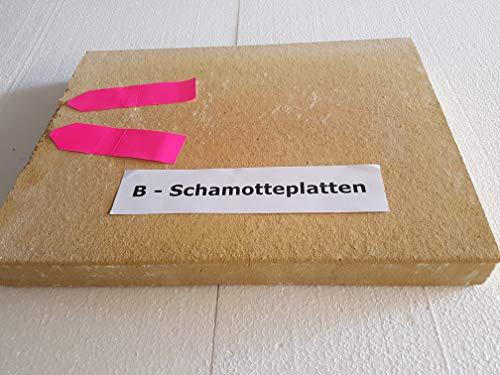 hs-kamine Schamottplatten 3 Stück 40 x 30 x 3 cm B-Ware !!!!!! Schamottestein Schamotte