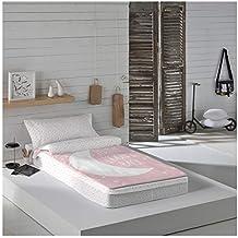 COTTON ARTean Saco nordico con Relleno Moon Pink Cama 90 x 190/200. Saco